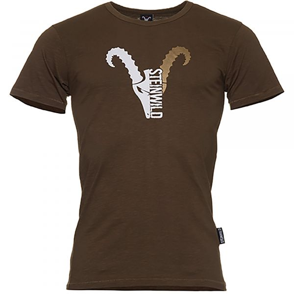 "Steinwild T-Shirt ""Logo"" goldbrown"